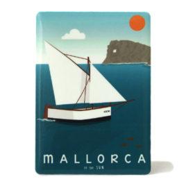 Souvenir de Mallorca, imán metálico magnético, na Foradada