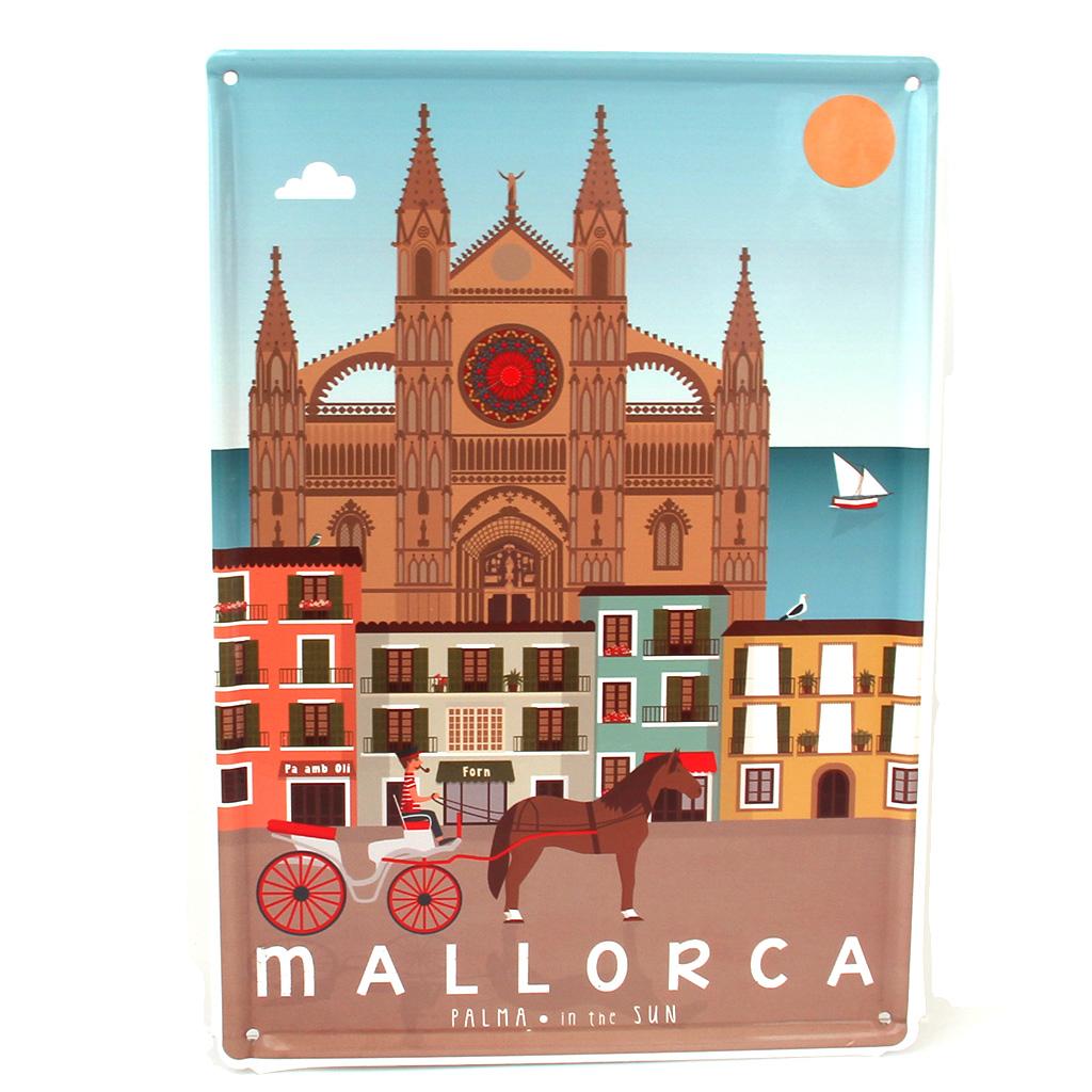Souvenir de Mallorca, placa decorativa vintage de Palma