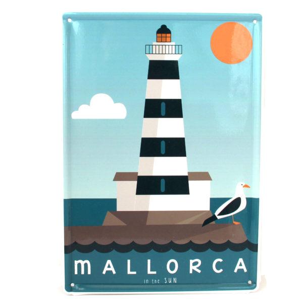 Mallorca Blechschild, Portocolom Leuchtturm