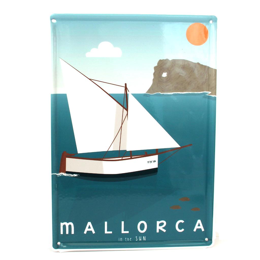 Souvenir de Mallorca, placa decorativa vintage de na Foradada
