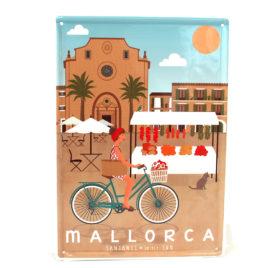 Souvenir de Mallorca, placa decorativa vintage de Santanyi