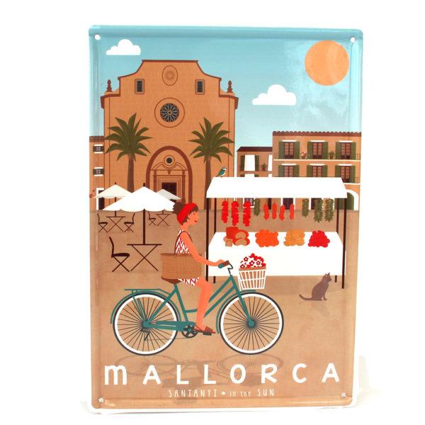 Mallorca Blechschild, Santanyí Marktplatz