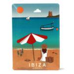 Souvenir de Ibiza, imán metálico de la playa de Ses Salines