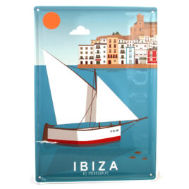 Ibiza Souvenir, Vintage Decorative Metal Sign Ibiza Port & Dalt Vila