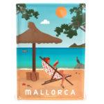 Souvenir de Mallorca, placa decorativa vintage de la playa de Formentor