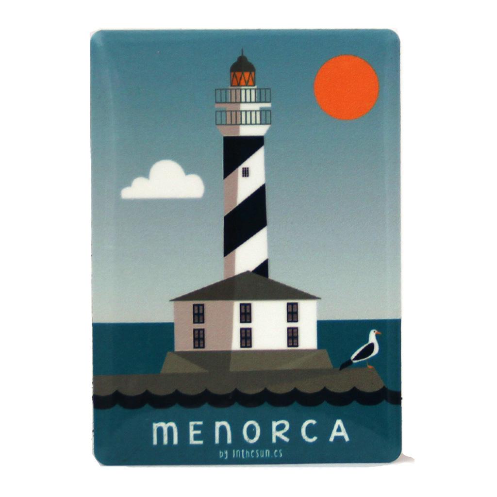 Souvenir de Menorca, imán metálico del faro de Favàritx