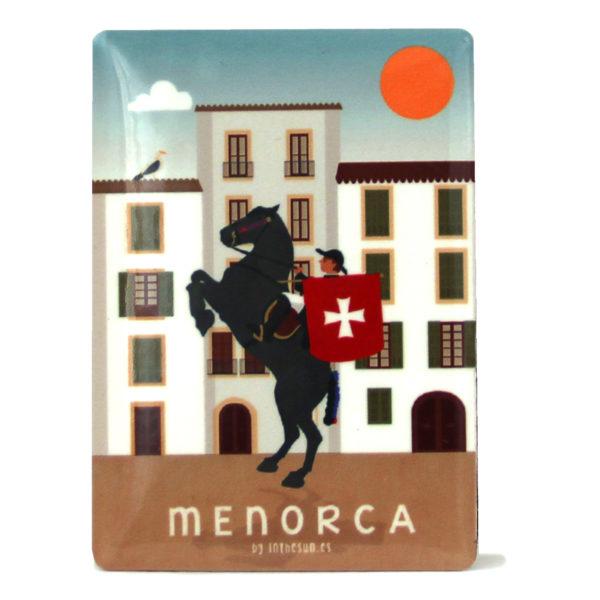 Souvenir de Menorca, imán metálico de Sant Joan, Ciutadella