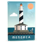 Souvenir de Menorca, placa decorativa vintage del faro de Favàritx