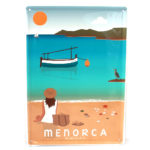 Menorca Souvenir, Vintage Decorative Metal Sign Cavalleria Beach