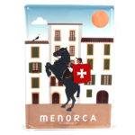 Menorca Souvenir, Vintage Decorative Metal Sign Sant Joan, Ciutadella