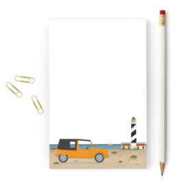 Balearic Islands Notepad, Lighthouse & Mehari