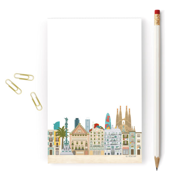 Bloc de notas de Barcelona, skyline