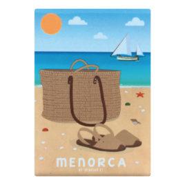 Imás recuerdo de Menorca, avarca & cesta