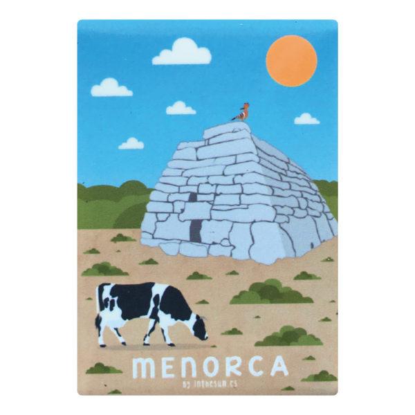 Imán recuerdo de Menorca, naveta des tudosns