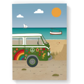 Mallorca Notebook, Beach & Hippie Van