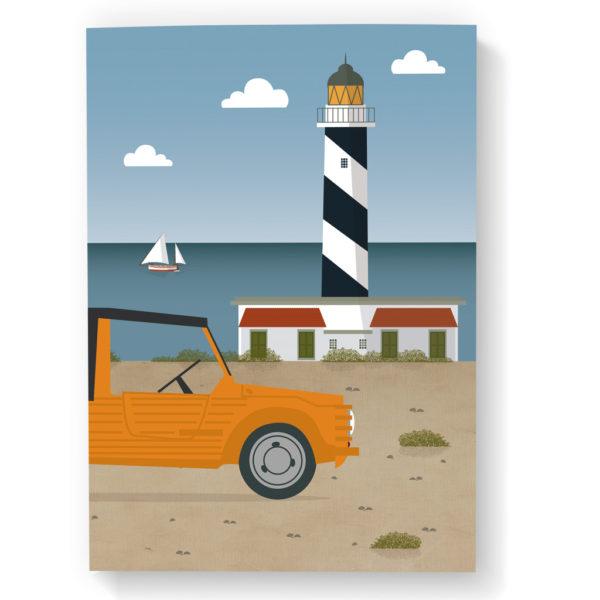 Mallorca Notebook, Lighthouse & Mehari