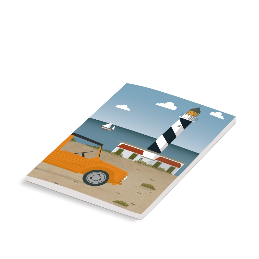 Mallorca Notebook, Lighthouse & Mehari