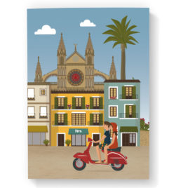 Mallorca Notebook, Cathedral & Vespa