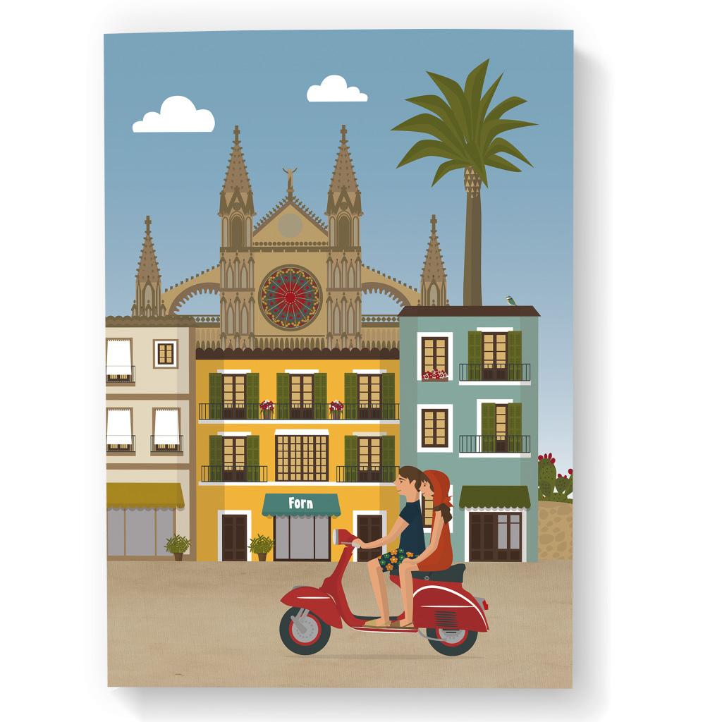 Libreta de Mallorca, catedral & vespa