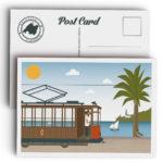Mallorca Postcard, Soller Port and Tram