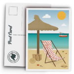 Mallorca Postcard, Beach, hammock and llaüt