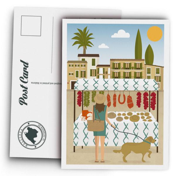 Mallorca Postcard, traditional market Santanyí