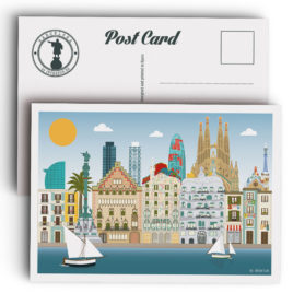 Barcelona Postcard, city skyline