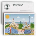 Postal de Barcelona, parque Güell