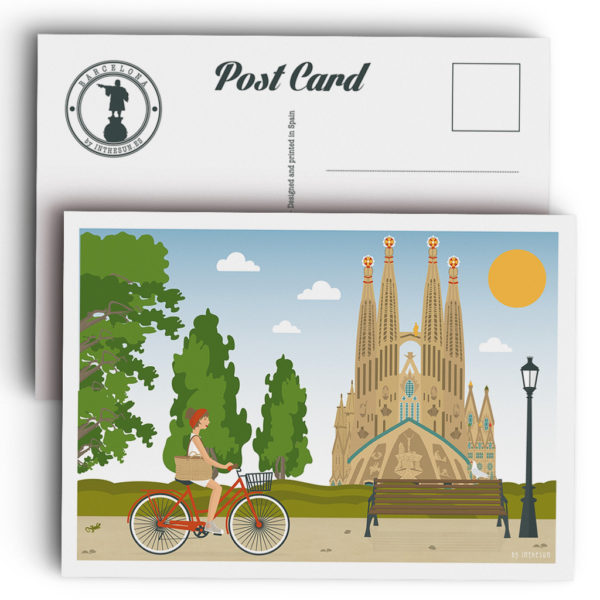 Postal de Barcelona, la Sagrada Familia