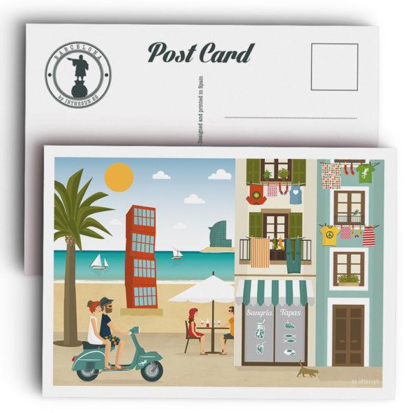 Postal de Barcelona, la Barceloneta
