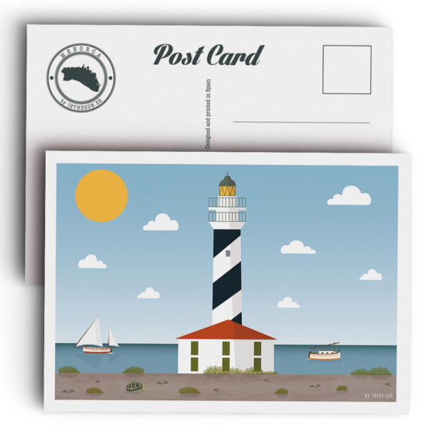 Menorca postcard, Favàritx lighthouse