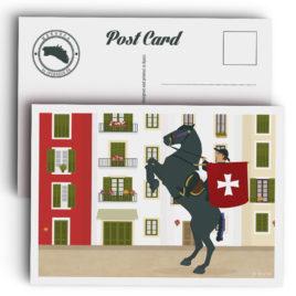 Postal Menorca, fiesta de Sant Joan en CIutadella