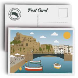 Postal Menorca, puerto de Ciutadella