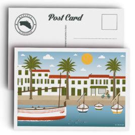 Postal Menorca, puerto de Fornells