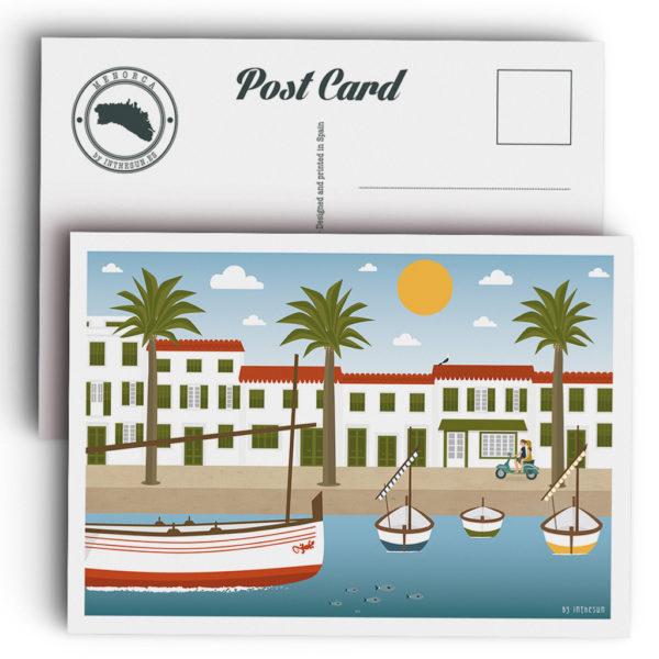 Menorca Postcard, Fornells Port