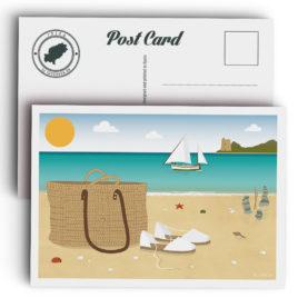 Postal Ibiza, playa de Ses Salines