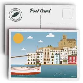 Postal Ibiza, Dalt Vila y Puerto