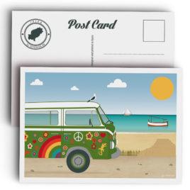 Ibiza postcard, hippie van