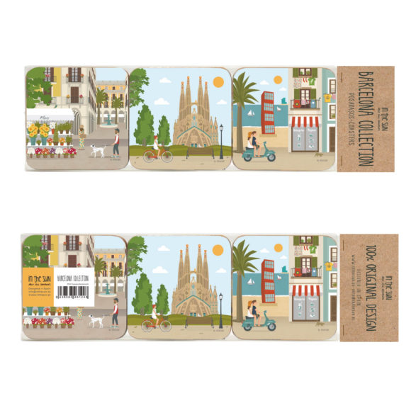 Barcelona Coasters, 6 units Set