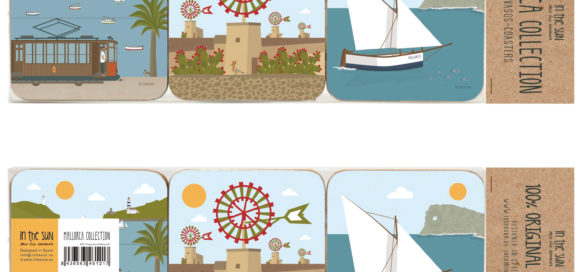 Mallorca Coasters, 6 units Set