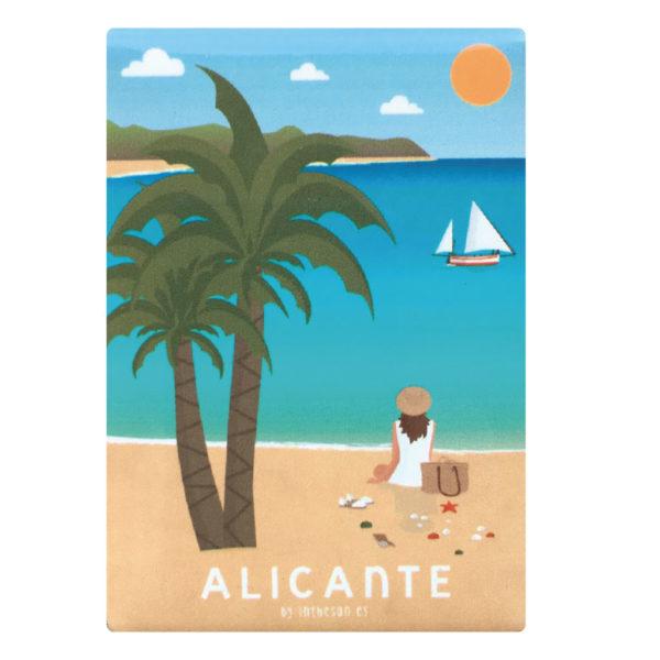 Imán recuerdo de Alicante, Playa San Juan