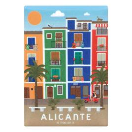 Imán recuerdo de Alicante, Villajoyosa, Costa Blanca
