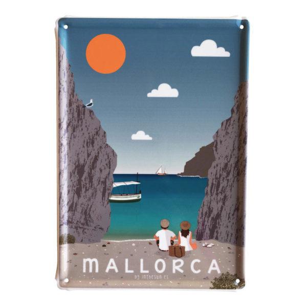Souvenir Mallorca Mallorca metal sign, Es Torrent de Pareis