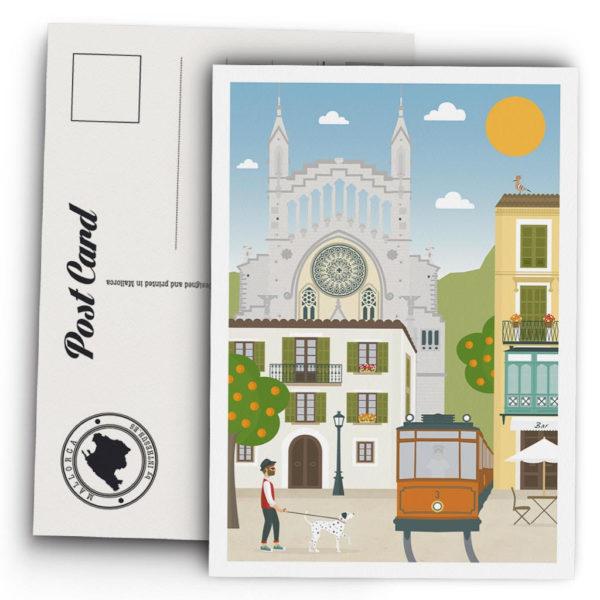 souvenir_mallorca_soller_tranvia_postal